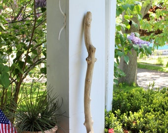 """Thick Knobby 30 1/2"""" Driftwood Branch for Hanging , Garden Art , Beach Decorating"""