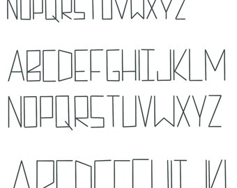 Tall Skinny Sans Serif cross stitch alphabet font pattern