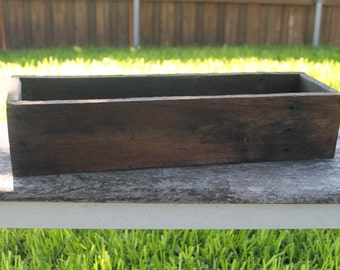 "20"" Rustic Planters Box (3.25""- 3.75""H - Short Version), Garden Box, Storage Box, Wooden Box, Herb Box, Primitive, Shabby Chic, Succulent"