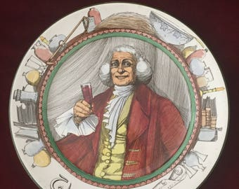 "Royal Doulton THE PROFESSIONALS ""The Squire"" Ware Rack Plate D3117"