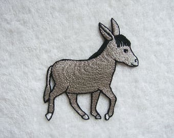Donkey Iron On Patch Horse Embroidered Applique Patches For Jackets