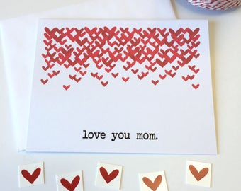 Love you mom card, I love you mom card, Mother's Day Card, Happy Mother's Day, Mothers day card unique, Mothers day from daughter, from son