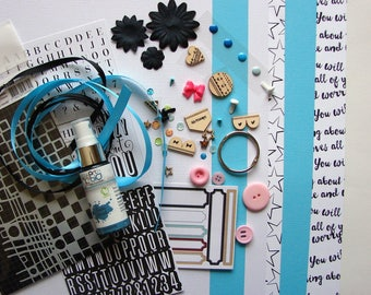 Bella BLVD paper and embellishment Kit