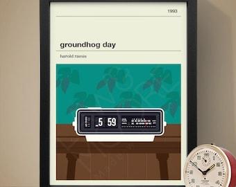 GROUNDHOG DAY Inspired Movie Poster - Movie Poster, Movie Print, Film Poster, Film Poster