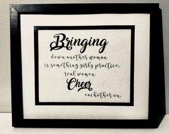 Cheer Each other on - Quote - Girl Power - Print - Instant Download