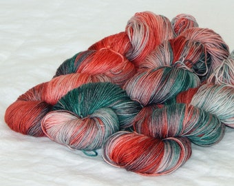 Bah! Humbug on Mad Sock 75/25 SW merino and nylon sock yarn