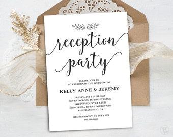 wedding reception invite