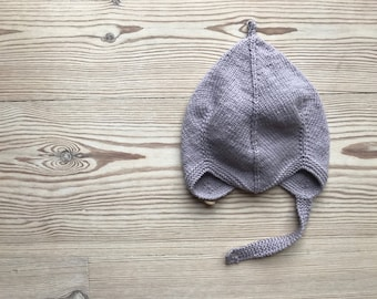Hand Knit Baby Pixie Hat | Dove Grey