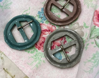 A Set of 3 1930's Art Deco Buckles