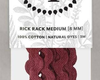 Naturally Dyed 8mm Rick Rack-Eggplant