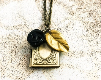 Black Rose And Bronze Locket