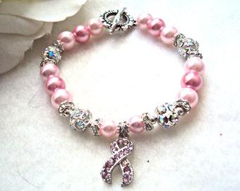 Beautiful Breast Cancer Awareness Bracelet