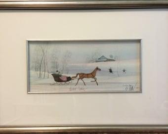 P. Buckley Moss Winter Art Print