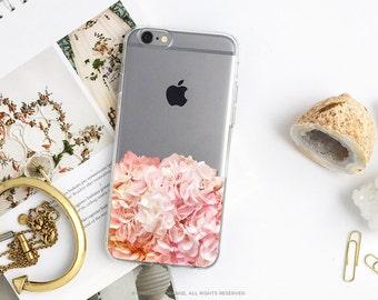 iPhone 8 Case iPhone X Case iPhone 7 Case Hydrangea Clear GRIP Rubber Case iPhone 7 Plus Clear Case iPhone SE Case Samsung S8 Plus Case U129