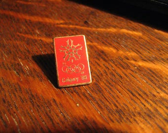 Calgary Olympics Lapel Pin - Vintage 1988 Canada Winter Olympic Games Canadian