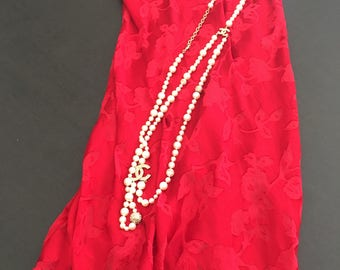 S / SILK/RAYON / Chemise/ Slip Dress/ Red S/ Small