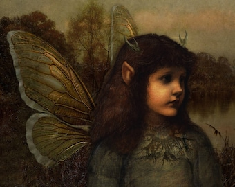 Moonlight Fairy.  Romany Soup Art Cards. Greetings card.