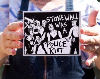 Stonewall Was a Police Riot! Small Print