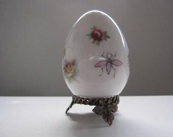 Hand Painted Limoges Porcelain Egg