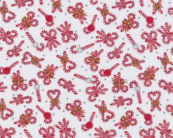 Twisted Candy Canes by Paintbrush Studio; Cotton fabric by the yard 120-13952