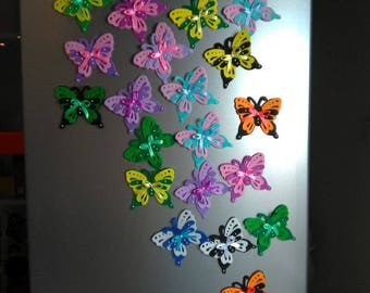 Refrigerator Butterflies Magnets - Felt Fridge Magnet - magnets handmade - souvenirs - made for home decoration - Butterflies toy