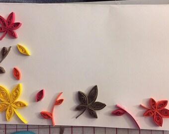 Autumn Leaves Blank Card