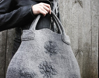 Misty-F felted handbag Unique and Stylish / additional production by request