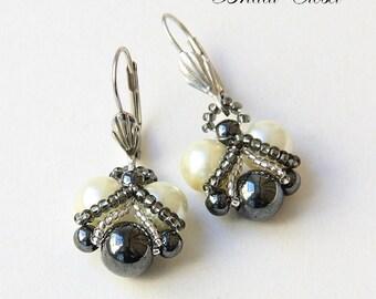 Bridal Pearl Earrings, Bridal Earrings Pearl , Pearl Earrings,  Wedding Earring, Pearl Bridal Jewelry, Bridesmaids Earrings