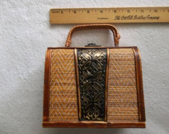 Bamboo /  wood purse from the 50's