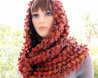 Crochet Scarf PATTERN Infinity Scarf, Circle Scarf, Fall Scarf DIY Gift, Chunky Scarf Instant Digital Download PDF, Lyubava Pattern No.148