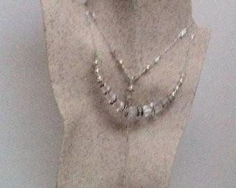 Swarovski Crystal Cube Lariat Necklace