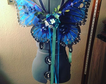 Blue Morpho Swallowtail Fairy Wings