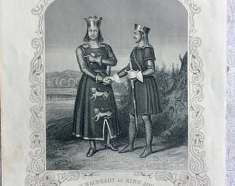 Shakespeare 1860 King John Engraving