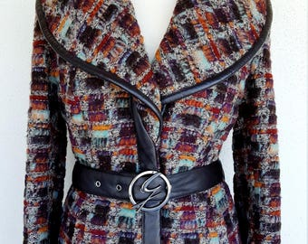 GATTINONI Haute Couture 90s jacket with shawl collar Made in Italy