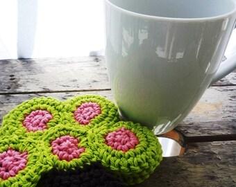 Tree Coasters - Crochet Tree - Crochet Coasters - Hostess Gift - Farmhouse Decor - Gift for Her - Gift for Mom - Drink Coasters - Set of 4