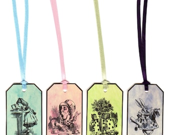 Alice in Wonderland 16 pastel eat me, drink me, take me, open me party tags decoration