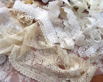 Craft Supplies  Lot of  Lace , Vintage   Trims , Mixed Lace Lot , Destash  Lace , Sewing Supplies  .