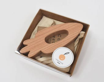 Carrot Wooden Teether