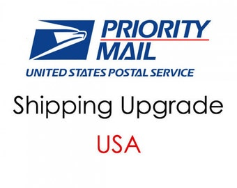 Upgrade Priority Mail Shipping 1 to 3 days includes insurance