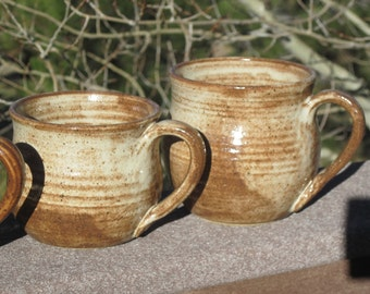 Mugs in Creamy Colorado Glaze  - Set of Two - See shop for more handmade pottery