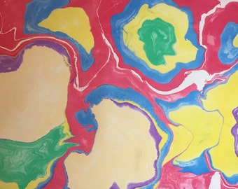 Traditional marbled paper 1
