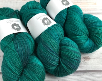 Polwarth Silk DK by Skeinny Dipping in colorway Scarab