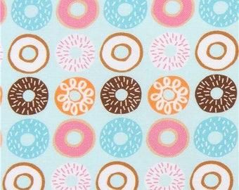 219038 light blue Robert Kaufman fabric donut dessert Suzys Minis