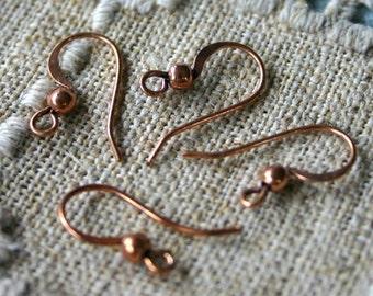 20pcs 10 Pair Earwire Antiqued Copper 17mm Fishhook French Hook 20 Gauge Earhook