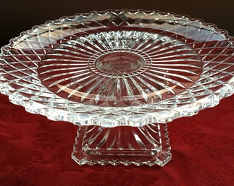 BOMBAY 24% LEAD CRYSTAL Pedastal Candy Dish, made in Slovakia