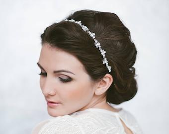 Wedding headband tiara Thin headband bridal Headpiece crystal Crown flower girl Bride hair piece bridal hair vine wedding hair accessories