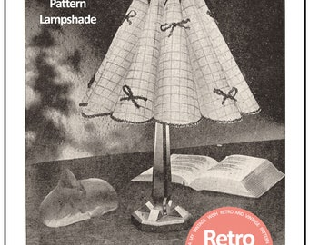 Instructions to Make 1940's Bedside Lamp Shade