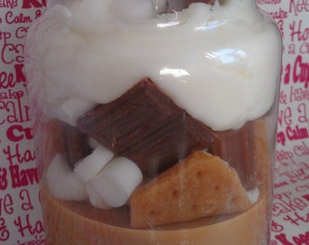 Smores Bakery Candle, Scented Soy Wax, Food Candles, Marshmallow, Graham Crackers, 30 oz Candle, Dessert Candle, Scented Candles, Decor