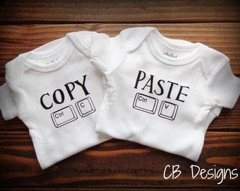 Twin Onesies-Copy & Paste