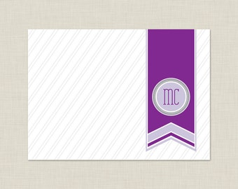 Personalized Stationery Set / Personalized Stationary Set / Sophisticated Banner Note Cards